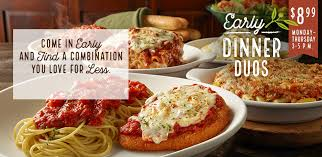 Olive Garden 5 99 For Unlimited Soup Salad - early dinner duos specials olive garden italian restaurants