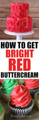 how to get bright red buttercream rose bakes
