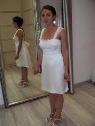 robe de mariã e mairie robe de mariee sur mesure courte en satin de soie et organza avec
