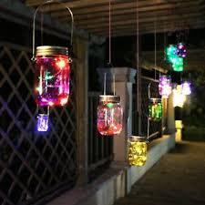 Patio Hanging Lights Jar Solar Lights Led String Light Hanging Lights Garden