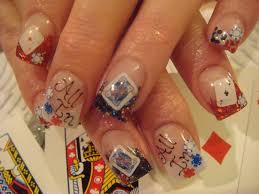 nail art las vegas card inlay theme nails my nail art pinterest