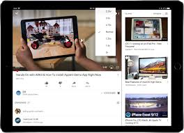 how to adjust video playback speed in youtube for ios