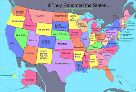 Color Map Of The United States by U S States Renamed