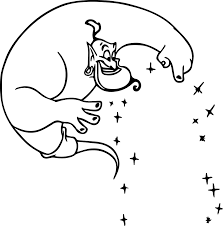 free genie aladdin coloring page wecoloringpage