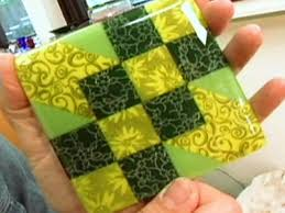 how to make a sunny glass tile coaster hgtv