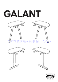 ikea tables galant table top 1 4 round assembly instruction