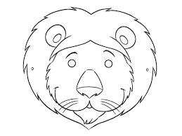lion mask for kids printable lion mask yidam info