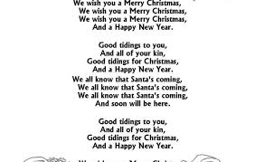 merry song ideas and new year greeting