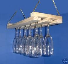 make from barn lumber hanging wine glass rack stemware holder 15