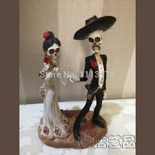skull wedding cake toppers buy skull wedding cake and get free shipping on aliexpress