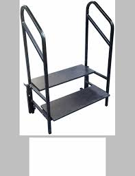 2 Step Handrail Portable 2 Step Stage And Seated Riser With Heavy Gauge Frame
