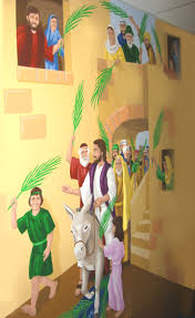 the triumphant entry u2013 a bible story mural jesus is lord a