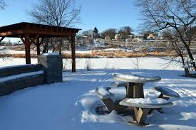 kirby built picnic tables neighbours want washroom at souris swinging bridge southwest post