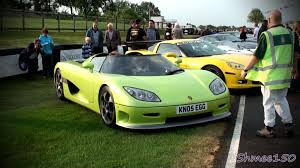 koenigsegg ccr green koenigsegg ccr startup and walkaround at goodwood ss youtube