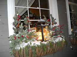 Christmas Decorations For Window Boxes by This Window Box Includes Evergreens Fruit And Berries For A