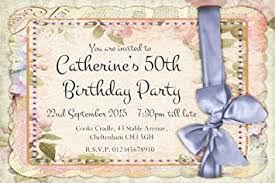 40 personalised party invitations vintage shabby chic birthday