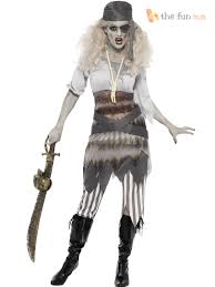 Ship Captain Halloween Costume Ladies Zombie Pirate Costume Ghost Ship Womens Halloween Fancy