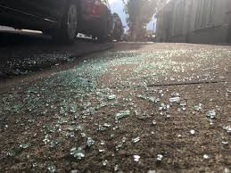 Shattered Glass Table by Caught On Camera Thief On Bicycle Breaks Into Se Portland Car