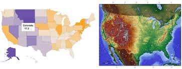 Elevation Map Of The United States by People In Colorado Are Now Shooting Themselves Faster Than They
