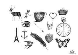 15 whimiscal assorted vintage tattoos small tattoos vintage