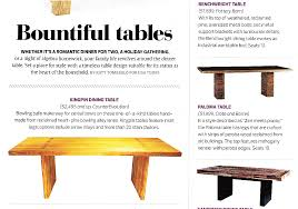 Dining Room Tables Made In Usa Kingpin Table Featured In The Summer Issue Of Usa Today U0027s Home