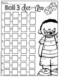 dice addition worksheets sb6050 sparklebox 2nd grade math