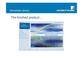 online tutorial library thornes above and beyond an online tutorial to develop academic an