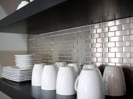 metallic backsplash surripui net large size hkitc after stainless steel tile kitchen backsplash s rend hgtvcom