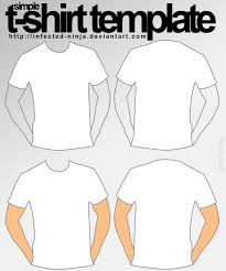 simple tshirt template by infected ninja on deviantart