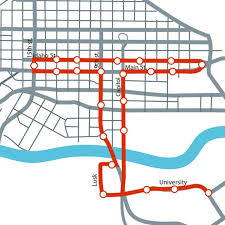 Usa Map North South East West by In The Loop A Downtown Circulator Both East West And North