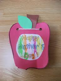 Cute Homemade Mothers Day Gifts by Mother U0027s Day Apple Card Craft Preschool Crafts For Kids