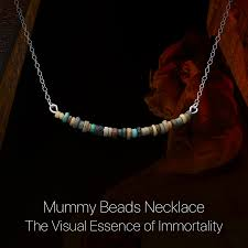 bead necklace jewellery images Mummy beads necklace egyptian jewelry mini museum jpg