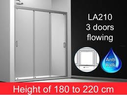3 Panel Shower Doors Shower Enclosures Longueur 110 Sliding Shower Door 3 Panels 110