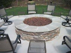 Fire Pit Gas Ring by Fire Pit With Stone Veneer And Granite Top Natural Gas Fire Ring