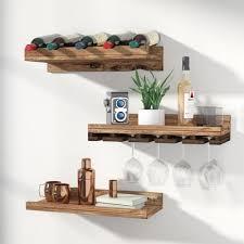 wood hanging wine glass rack u0026 reviews joss u0026 main