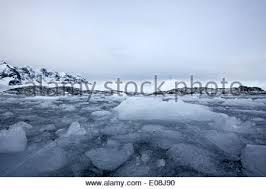 brash sea forming winter closing in antarctica stock photo