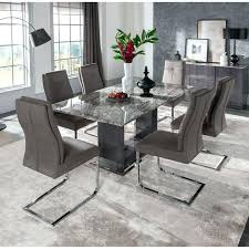 inspiring weathered grey dining table with additional used glass