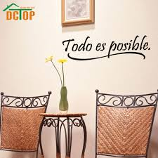 popular inspirational wall murals buy cheap inspirational wall everything is possible spanish inspiring quotes wall sticker home decor bedroom kids vinyl wall mural decal