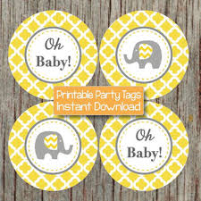 yellow and gray baby shower decorations shop elephant baby shower party decorations on wanelo