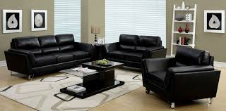 hokku designs chrysocolla 3 piece leather living room set fiona