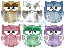 artecy cross stitch artsy owls cross stitch pattern to print