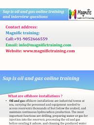 sap is oil and gas online training nad interview questions