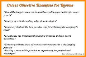 resume career objective exles resume career objectives proyectoportal