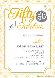 50th birthday invitations for him invitations templates