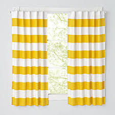 kids curtains yellow and white curtain panels the land of nod