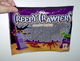 halloween candy fused plastic bags