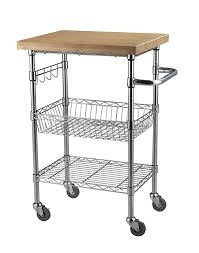 Small Kitchen Carts by Amazon Com Sandusky Lee Mktbb242036 Bamboo Top Wire Cart 20