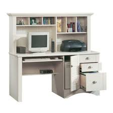 Sauder Harbor View Computer Desk With Hutch Antiqued White Jesper Office Unique Furniture Standing Desk Supply