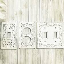 Fleur De Lis Home Decor Bathroom Light Switch Plate Light Switch Cover Cast Iron Switchplate