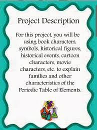 Periodic Table Project Ideas The Simply Scientific Classroom Periodic Table Analogies Project